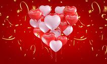 红色爱心情人节背景图片
