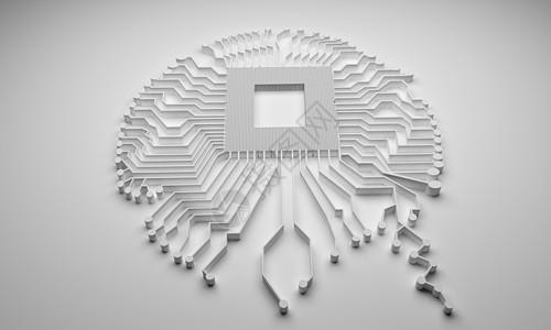 科技智能大脑背景图片