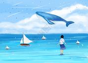 海上梦幻的女孩图片
