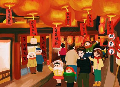 春节逛灯会图片