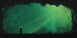 梦幻萤火手绘意境情感插画图片