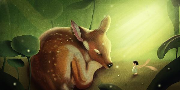 熟睡的鹿图片