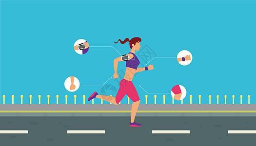 跑步健身的人图片