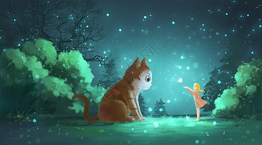 奇幻森林的少女图片