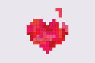 红色像素视频游戏心形图片