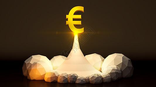金融欧盟币图片