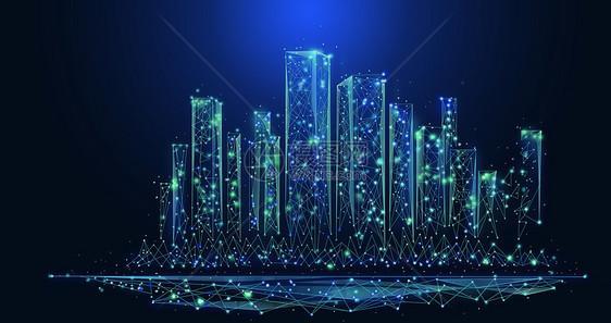 科技城市数据背景图片