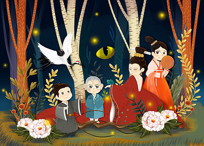 森林Q版卡通手绘图片