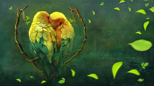 情人节小鸟图片