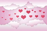 情人节爱心粉色背景图片
