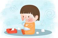 流感插画图片