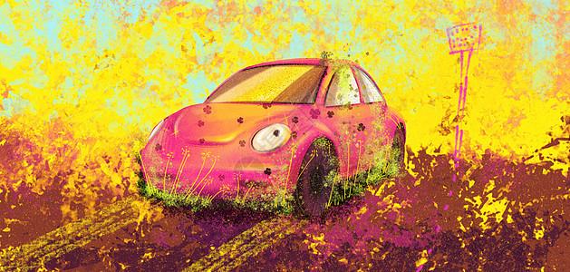 阳光下的汽车图片