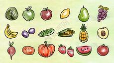 水彩蔬菜水果图片