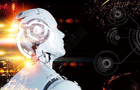 炫酷AI智能机器人图片