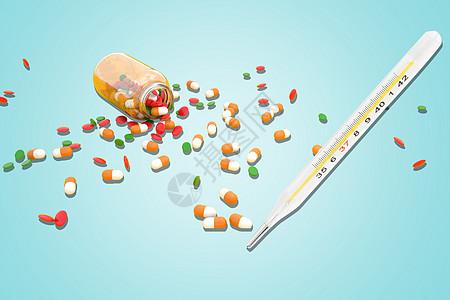 医疗药物背景图片