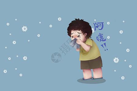 流感病毒感染图片