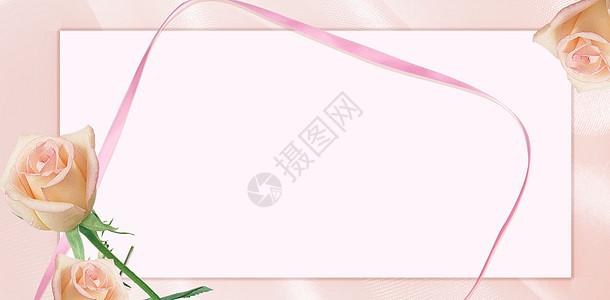 粉红色玫瑰浪漫情人节背景图片