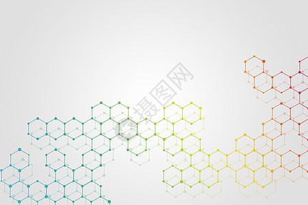 分子结构背景图片