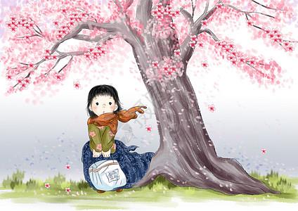 樱花里的春天图片