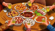 团圆饭年夜饭图片