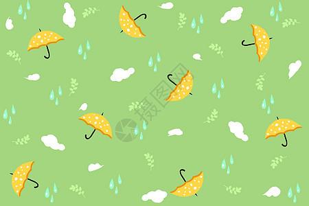 雨水节气手绘背景图片