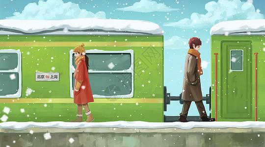 火车站的情侣图片