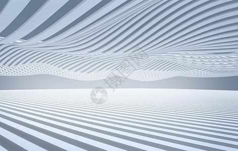 简洁空间几何曲面背景图片