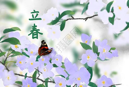 亭亭玉立于花上图片