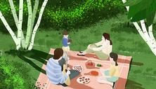 立春野餐图片