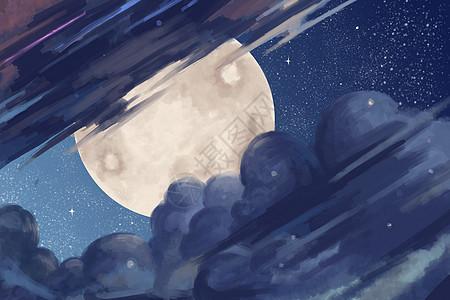 云雾中的月亮图片