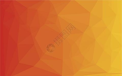 矢量多边形橙色背景图片