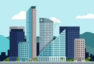 科技城市建筑蓝色图片