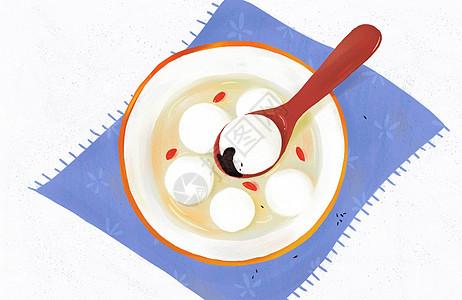 元宵节吃汤圆啦图片