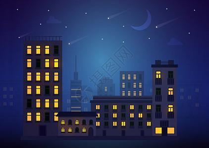 城市的夜晚图片