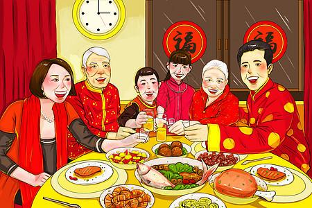 新年除夕年夜饭图片