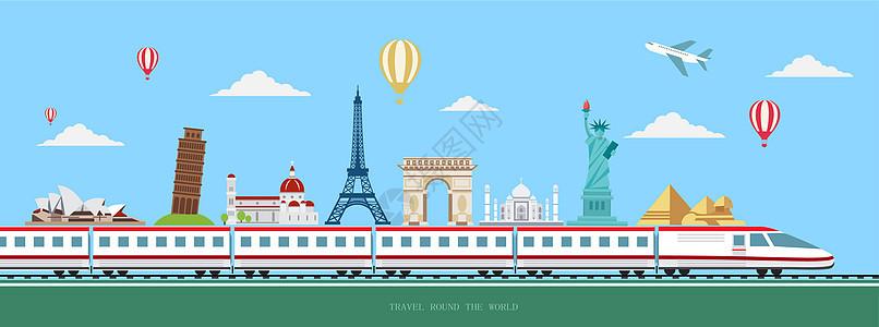 高铁环游世界图片