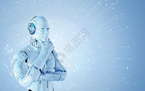 思考的机器人图片