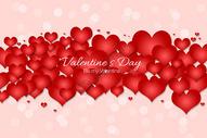 情人节心形符号爱情背景图片