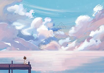 少女海洋图片