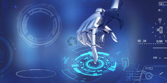 人工智能机器人点击虚拟屏幕图片