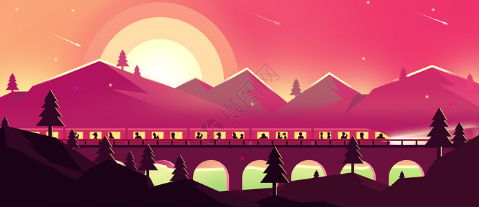 春运火车图片
