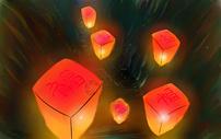 新年孔明灯图片