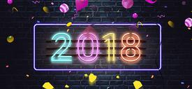 2018数字创意字体图片