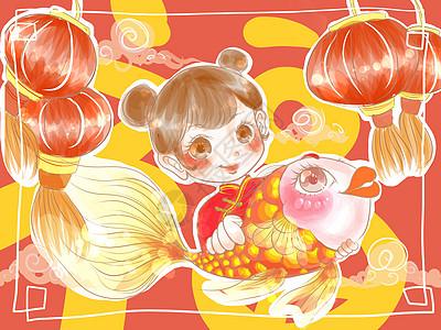 春节娃娃图片