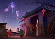 春节除夕夜图片
