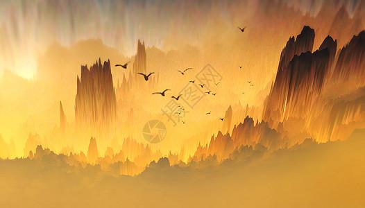峡谷夕阳风景图图片