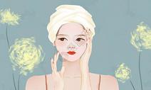 女孩护肤图片