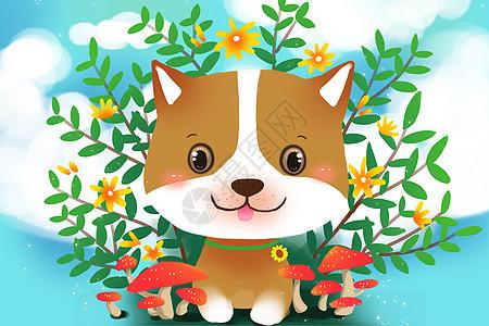 春天狗年壁纸图片