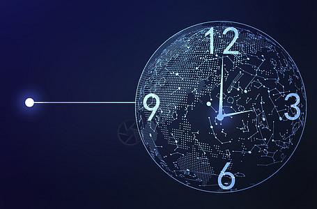 科技时钟图片