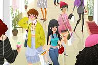 三八妇女节购物图片